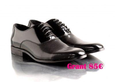 zapatos novio cordones negro